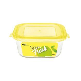 Pojemnik szklany żaroodporny kwadratowy z pokrywką do żywności KEEP IT FRESH 520 ml