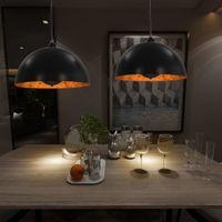 Lampy Sufitowe, 2 Szt., Czarno-Złote, Półkoliste, 40 Cm, E27
