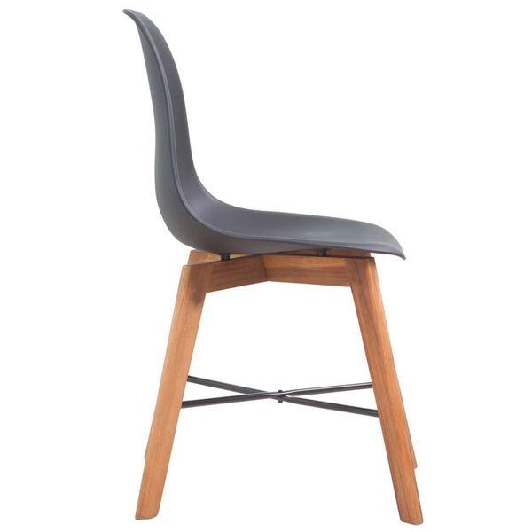 Krzesła Stołowe, 2 Szt., Czarne, Plastikowe zdjęcie 3