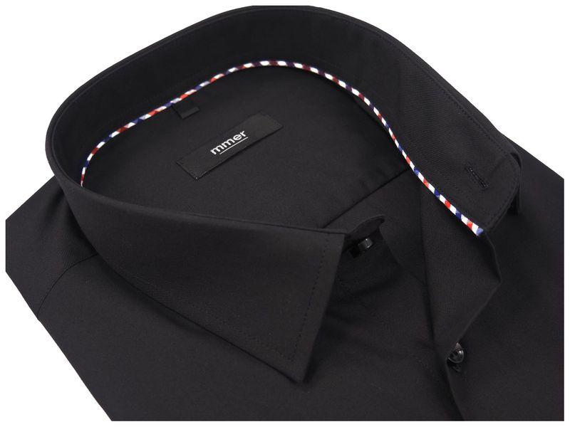 Czarna koszula na krótki rękaw 006K Rozmiar koszuli i fason - 176-182 / 45-Slim zdjęcie 1