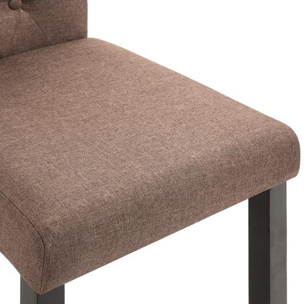 Krzesła Stołowe, 2 Szt., Brązowe, Tapicerowane Tkaniną zdjęcie 7