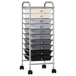 Wózek z 10 szufladami ombre plastikowy VidaXL
