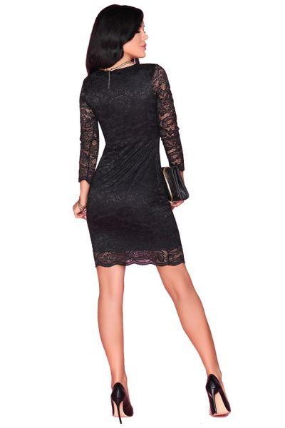 Koronkowa Sukienka przed kolano czarna bardzo seksowna M zdjęcie 4