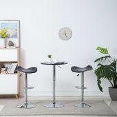 Obrotowe stołki barowe, 2 szt., ekoskóra, czarne, 45x44,5x85 cm