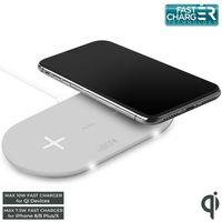 PURO Fast Wireless Dual Dock - ładowarka indukcyjna dla dwóch urządzeń Qi 20 W biały