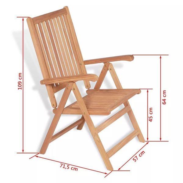 Krzesło Krzesła Ogrodowe Rozkładane Drewniane