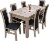 Zestaw Orion stół 140*80 plus 6 krzeseł, sonoma :)PROMOCJA!!
