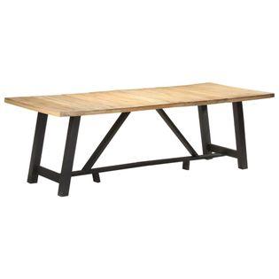 Stół jadalniany, 240x100x76 cm, surowe drewno mango
