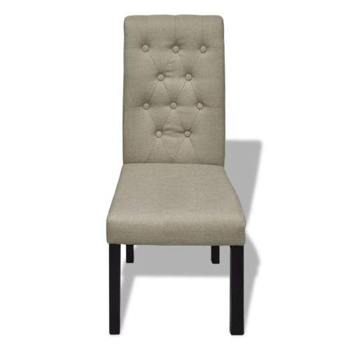 Krzesła stołowe 2 szt. beżowe tkanina VidaXL na Arena.pl