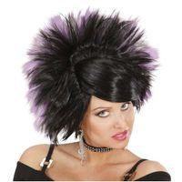 peruka KSIĘŻNICZKA ROCKA rock czarne włosy OMBRE