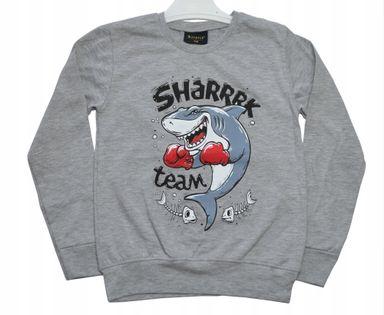 Bluzka chłopięca Shark szara roz.128