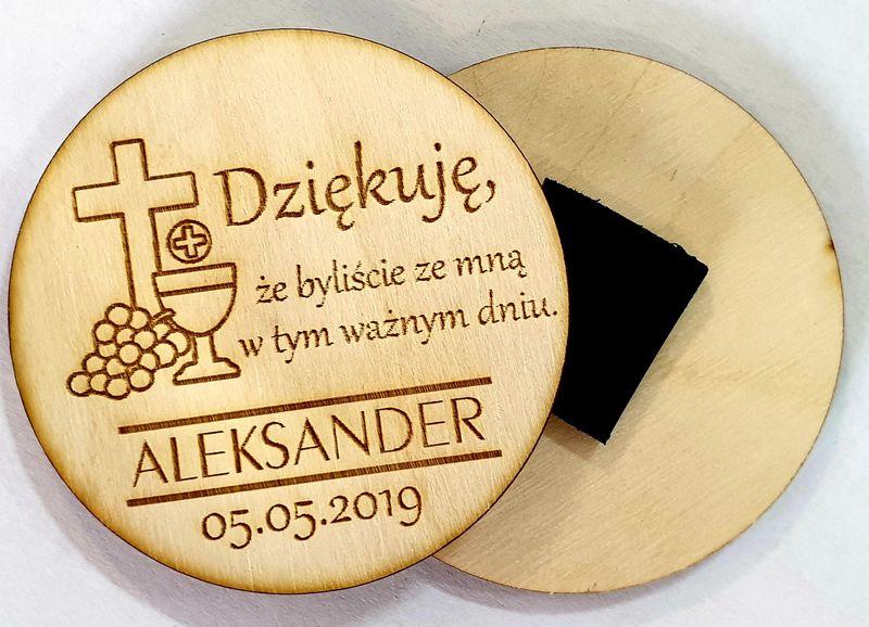 Podziękowania ze sklejki Komunia Chrzest na Arena.pl