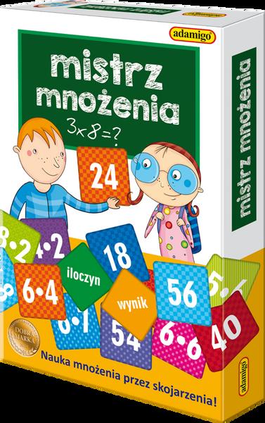 GRA PLANSZOWA ADAMIGO MISTRZ MNOŻENIA EDUKACYJNA 4676 na Arena.pl