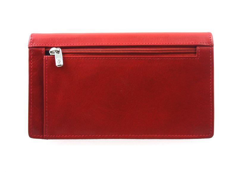 Portfel damski Samsonite RFID, skórzany w kolorze czerwonym zdjęcie 6