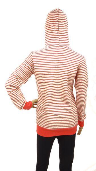 Bluza w paski zasuwana (koralowa) Rozmiar - L zdjęcie 2