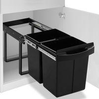 Kuchenny kosz na śmieci, wysuwany, ciche zamykanie, 48 L