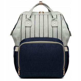 Plecak dla mamy damski elegancki vintage w paski KN61