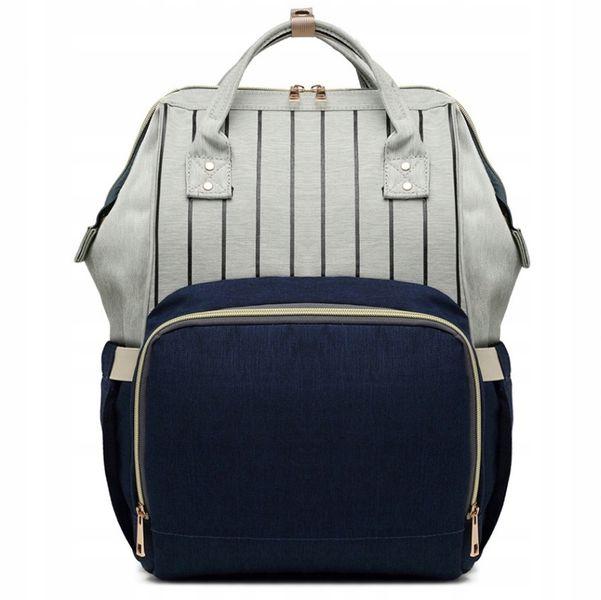 Plecak dla mamy damski elegancki vintage w paski KN61 zdjęcie 1