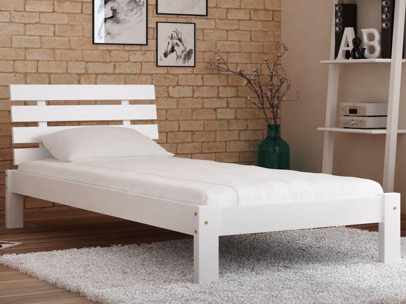łóżko Białe 90x200 Drewniane Wysokie Producent F4 Magnat