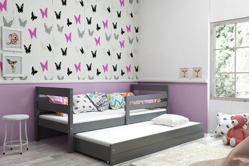 Łóżko dla dzieci Eryk 190x80 podwójne wysuwane rozsuwane + SZUFLADA na Arena.pl