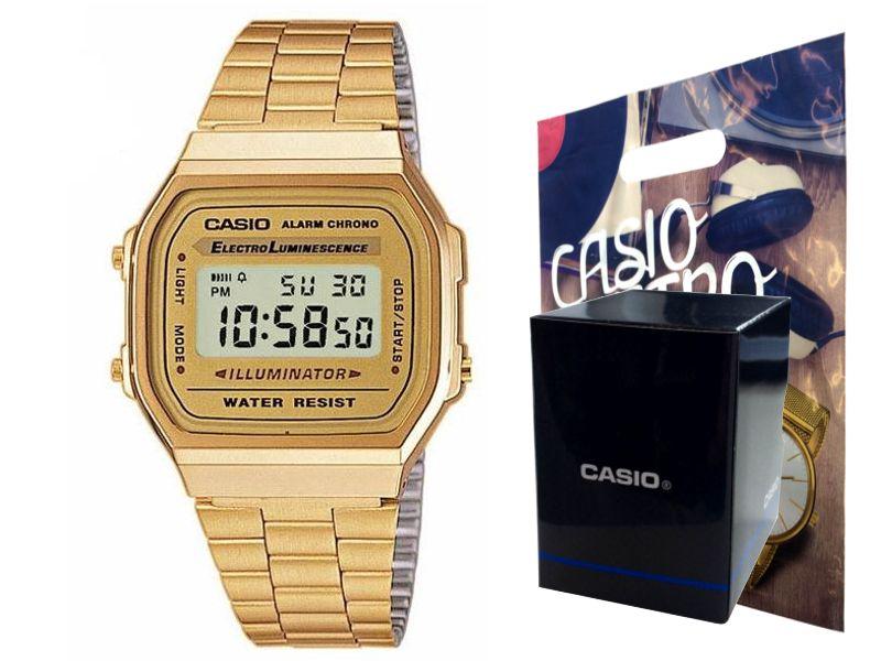 Zegarek  CASIO A168WG-9EF złoty, hologram zdjęcie 1