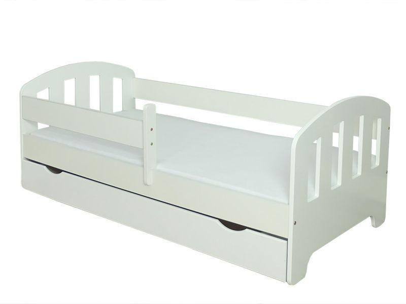 Łóżko FIFI 140x80 + szuflada + barierka zabezpieczająca + MATERAC zdjęcie 9