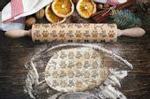 Grawerowany wałek do ciasta z oryginalnym wzorem - KOTY.