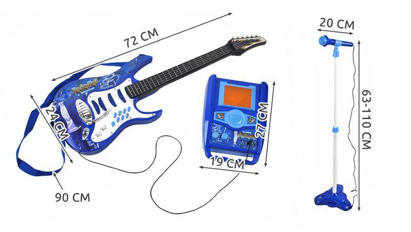 GITARA Elektryczna dla dzieci z wzmacniaczem + Mikrofon Z337N na Arena.pl