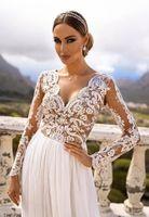 ADEL - długa suknia wieczorowa-biały-beż XL (42)