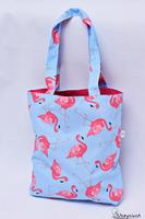 Torba na zakupy bawełniana shopperka eko torba zakupowa flamingi pink