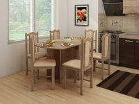 Stół składany Alpin 2 + 6 krzeseł