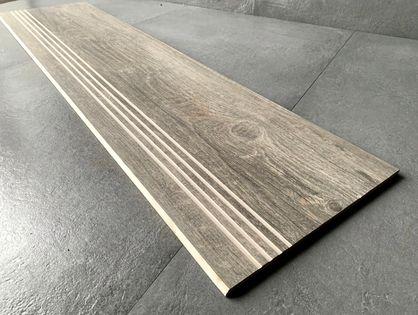 Płytki na schody drewnopodobne 100x30 deska ryfle