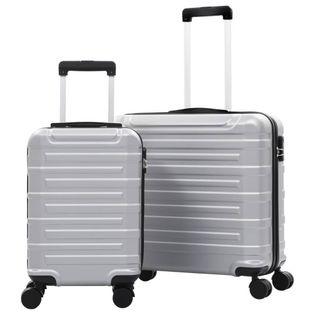 Zestaw twardych walizek 2 szt. srebrne ABS VidaXL
