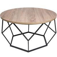 Stolik kawowy geometryczny Diament w kolorze czarny - ciemny dąb 70 cm