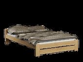 lóżko drewniane 160x200 NIWA ze stelażem SOSNA