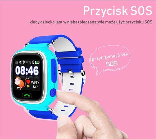SMARTWATCH ZEGAREK dla DZIECI z GPS + WIFI Q90 MENU PL WYSYŁKA 24H na Arena.pl