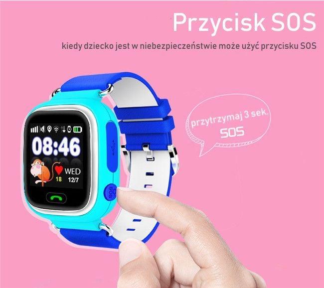 37642dc6ed94 SMARTWATCH ZEGAREK dla DZIECI z GPS + WIFI Q90 MENU PL WYSYŁKA 24H zdjęcie 4