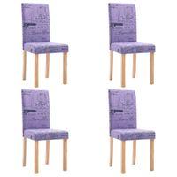 Krzesła stołowe 4 szt. fioletowe tkanina VidaXL