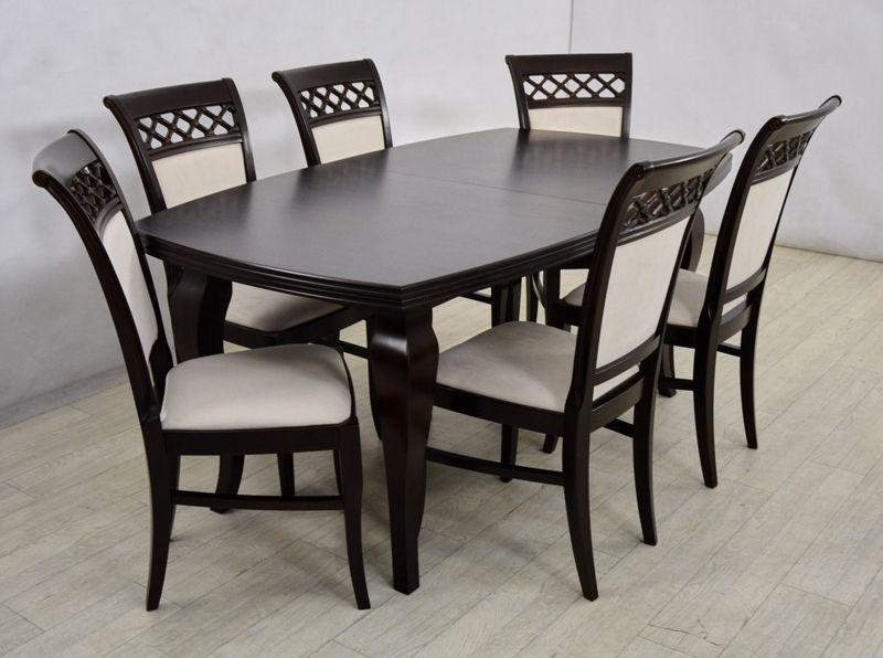 Drewniany Stół I 6 Krzeseł Do Salonu Arenapl