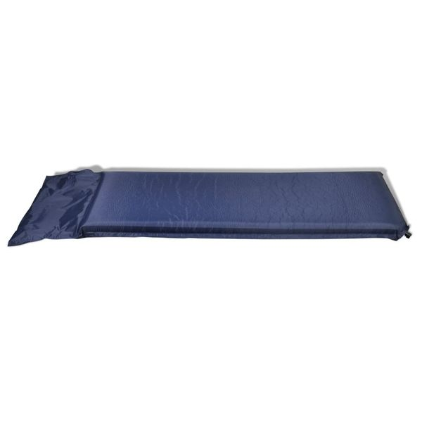 Dmuchany materac, niebieski (10 x 66 x 200 cm). zdjęcie 4