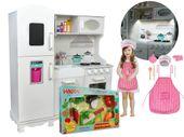 Kuchnia DREWNIANA Dla Dzieci + LED + MEGA ZESTAW I AKCESORIA  Z370F