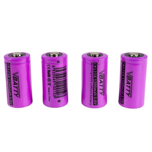 4x bateria akumulator CR 123 a 3.0 V 1200 mAh nowy RCR 16340 CR-17345 Li-ion Lithium na Arena.pl