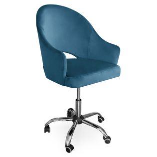 Fotel obrotowy GODA / niebieski / noga chrom / MG33