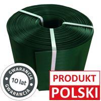 Taśma ogrodzeniowa 190mm Zielona ROLKA 26mb