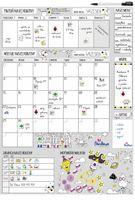Planer kalendarz na szafkę lub ścianę suchościeralny