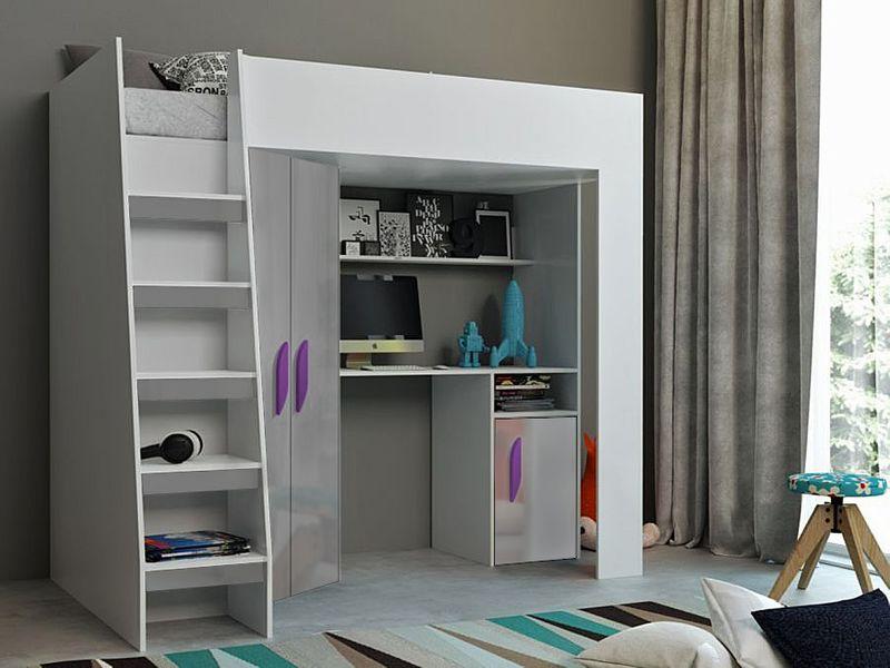 Łóżko piętrowe FIGO antresola szafki zestaw RIBES zdjęcie 5