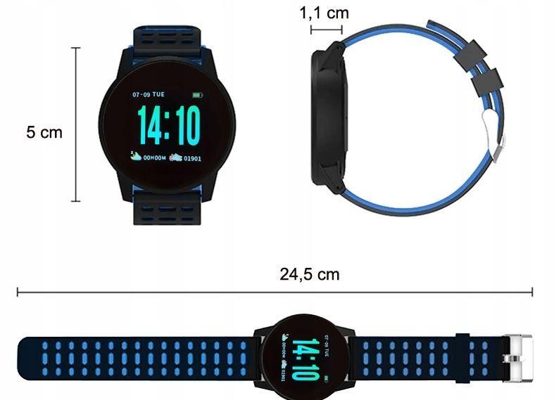 Smartwatch Zegarek Smartband Krokomierz Pulsometr T274 zdjęcie 5