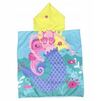 Okrycie Kąpielowe Ręcznik Syrenka Dla Dziewczynki