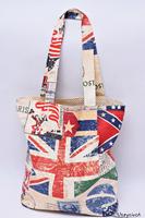 Torba na zakupy bawełniana shopperka eko torba zakupowa retro flagi