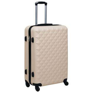 Twarda walizka na kółkach złota ABS VidaXL